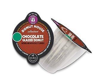 Donut House Chocolate Glazed Donut Coffee Keurig 20 Carafe Pods 8 Count