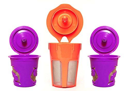 Premium Reusable K-Carafe and K-Cup Coffee Filters Pod Combo for Keurig 20 K200 K300 K400 K500 Series