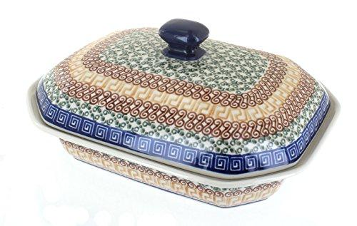 Polish Pottery Athena Medium Covered Baking Dish