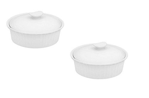 CorningWare French White 24 oz Baking Dish Set of 2