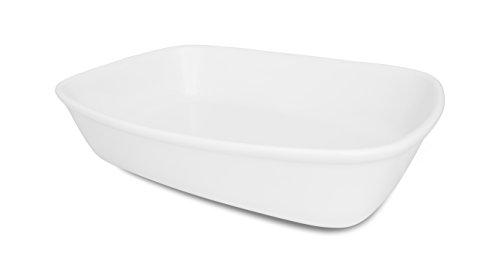 Oxford Bake Line Porcelain RoasterBaking Dish Set of 3 White