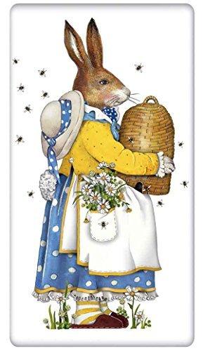 Beehive Easter Rabbit Bunny Flour Sack Cotton Kitchen Dish Towel - 30 x 30 Mary Lake Thompson design