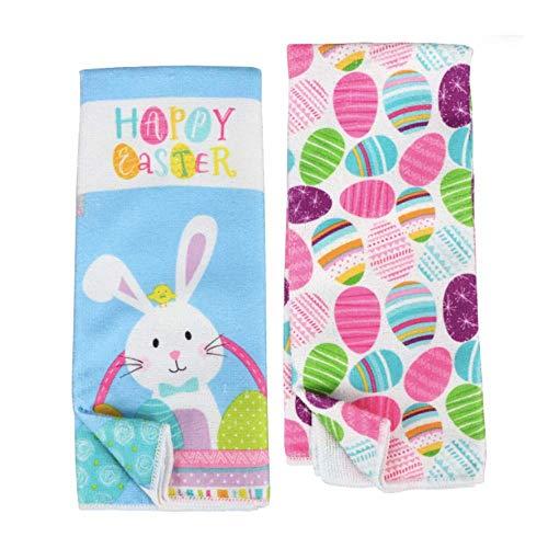 Easter Dish Towels Set of 2  Easter Towels  Spring Kitchen Towels  Easter Hand Towels for Bathroom  Easter Hand Towels  Easter Kitchen Towel set  Bunny Decorative Towels Kitchen  Happy Easter