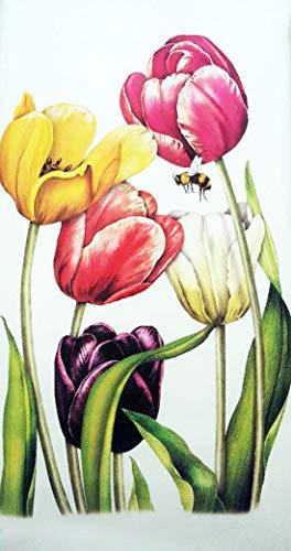 Mary Lake Thompson Spring Rainbow Tulips Easter 100 Cotton Flour Sack Dish Tea Towel 30 x 30