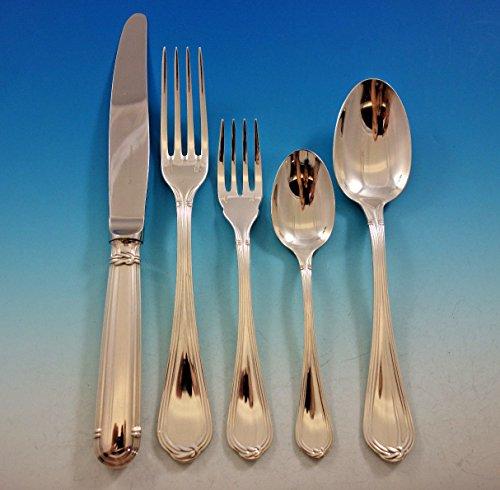 Oceana by Christofle France Sterling Silver Flatware Set Service 50 Pcs Dinner