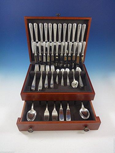 Villeroy by Christofle Silverplate Flatware Dinner Service 12 Set 119 Pcs France