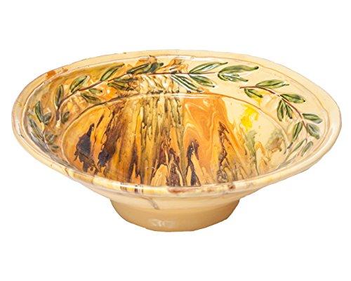 Abigails Le Moulin Marble Serving Bowl Olive