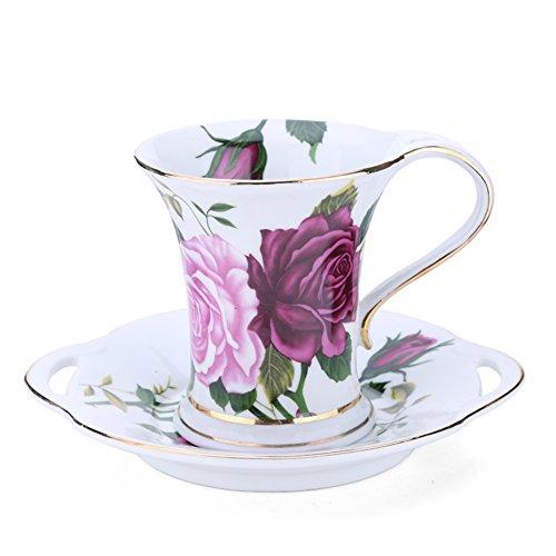 Bone China coffee mug Simple elegance fancy coffee cup the flower Cup-C