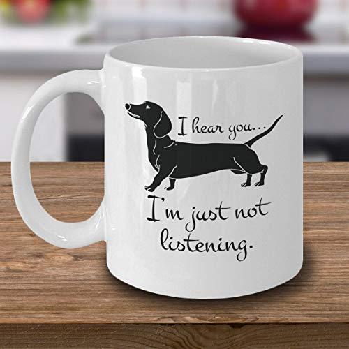 Funny Dachshund Dad Mom Coffee Cup Doxie Wiener Weiner Sausage Dog Owner Mug I Love My Dachshund Dachshund Lover Gift Dachshund Present
