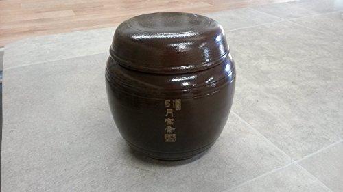 Korean Traditional Pottery Pot Jar Onggi Hangari Ceramics with Lid 053 gal 2000ml 2L