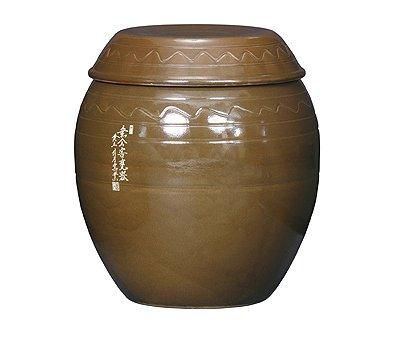 Korean Traditional Pottery Pot Jar Onggi Hangari Ceramics with Lid 343 gal 13000ml 13L