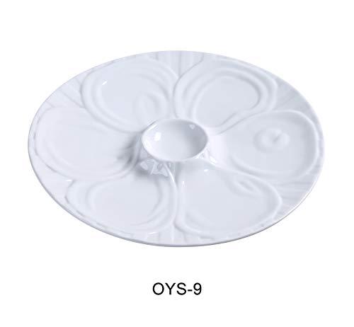Yanco OYS-9 Oyster Plate 9 Diameter Porcelain Super White Pack of 24