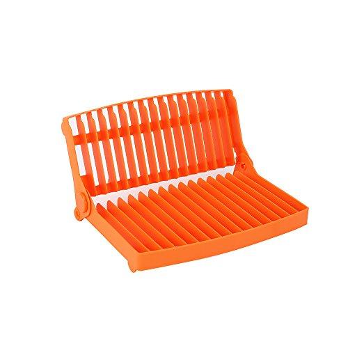 Collapsible Dish Drying Rack Small Dish Rack Orange Dish Drainer Rack