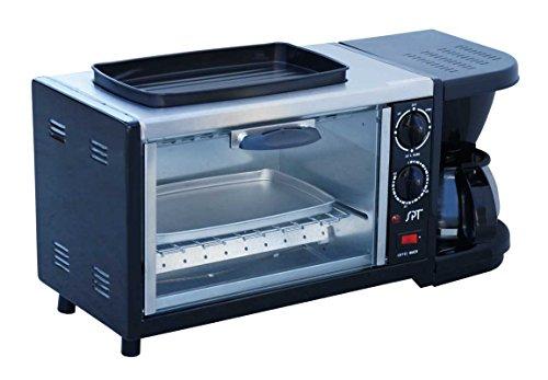 SPT BM-1118 Stainless Steel 3-in-1 Breakfast Maker Black