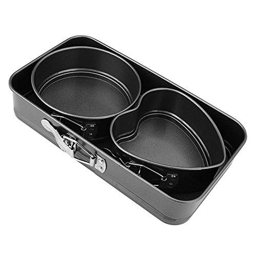 Graceme 3pcs Non-Stick Springform PanCheesecake PanLeakproof Cake Pan Bakeware Set Mini
