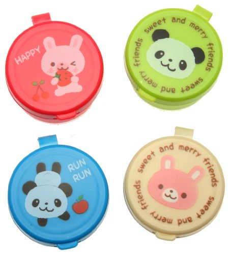 Kotobuki Condiment Containers for Bento Box Mini Animal Friends