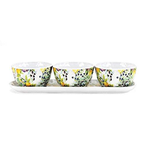 Michel Design Works Melamine Serveware Condiment Set Tuscan Grove