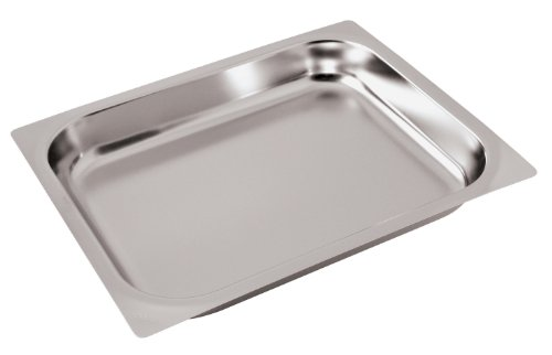 Paderno World Cuisine 20 78 inches by 12 34 inches Stainless-steel Baking Sheet for Hotel Pan - 11 depth 34 inches