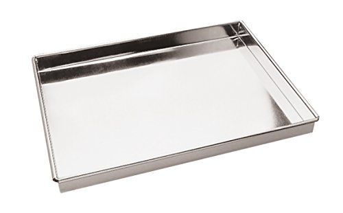 Paderno World Cuisine A4982292 Straight Sides Stainless Steel Baking Sheet Gray