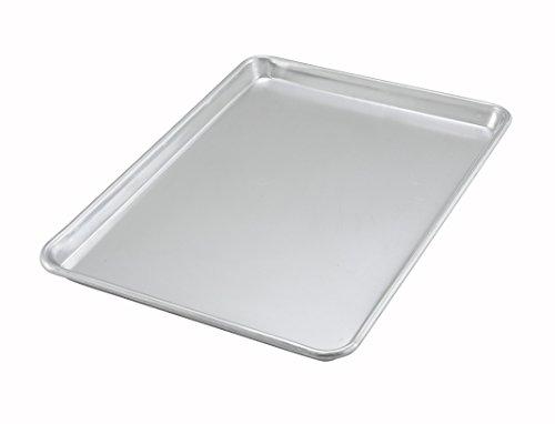 Winco ALXP-1318 13x18-Inch Half-Size 18 Gauge Aluminum Baking Cookie Sheet Pan NSF