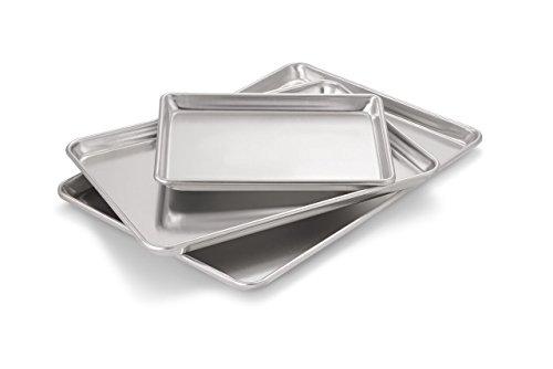 Artisan Professional Classic Aluminum Baking Sheet Pan Set with Quarter Half and 23-Size Sheets