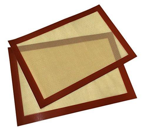 YoYo Moon Silicone Baking Mat Cookie Baking Sheet Set 2 - Non Stick Cookie Sheets Bake Mat Professional Grade
