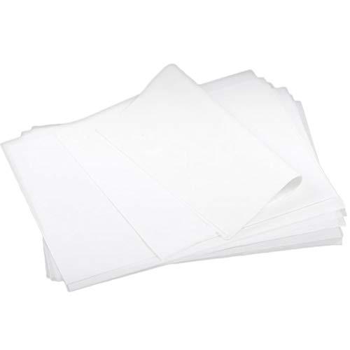 BESTONZON 500PCS Precut Baking Paper Sheets Non Stick Basket Liner for Baking Pastry Bread Sandwich Burger Hamburger Wrapping