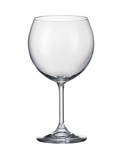 Bohemia Crystal Klara Wine Glasses 155 ounces Set of 6 Clear