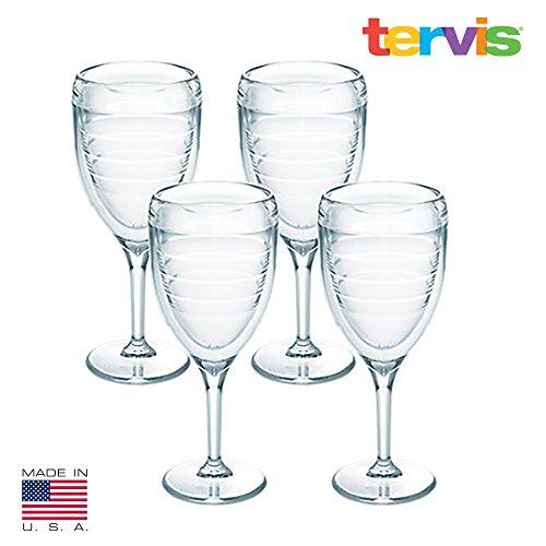 Tervis 9 oz 4-pc Clear Wine Glass Set 4 Pc Set