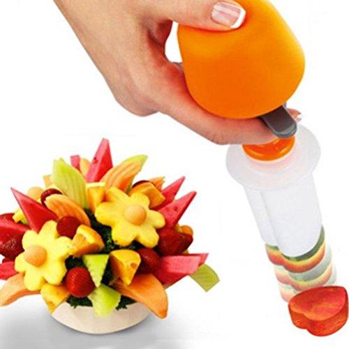 6Plastic Fruit Shape Cutter Slicer - Creative Kitchen Pop Chef Tools Food Make