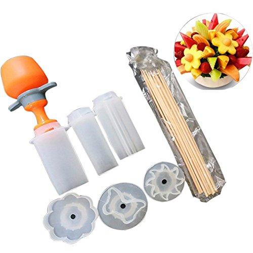 Adealink Plastic Vegetable Fruit Shape Cutter Slicer Set Food Snack Maker Cake Decorator Kitchen Tools