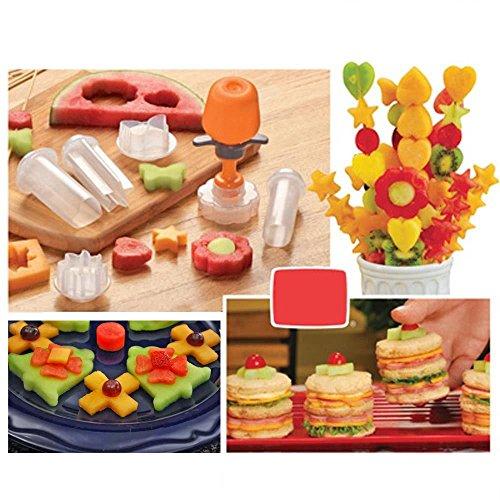 Dealglad New Creative Plastic Cake Cookie Vegetable Fruit Shape Cutter Slicer Veggie Mold Set DIY Decorating Tools