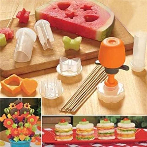 Vegetable Fruit Cutter Mold 6 Shape Slicer Food Decorator Kitchen Tool