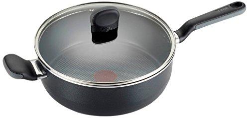 T-fal A68833 Soft Sides Nonstick Thermo-Spot Dishwasher Safe Oven Safe Saute PanJumbo Cooker Cookware 42-Quart Black