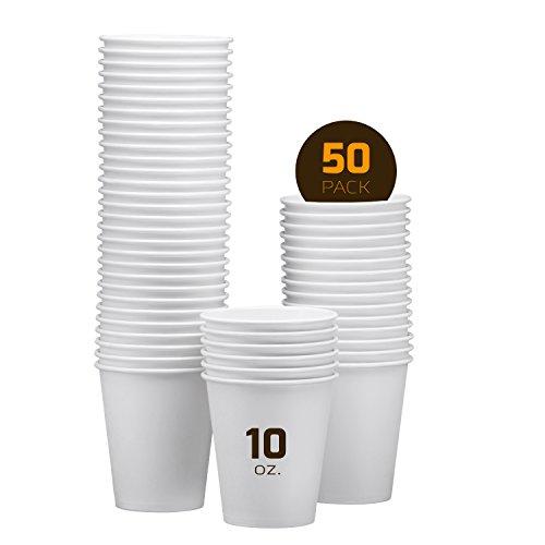 50 10oz White Paper Cups