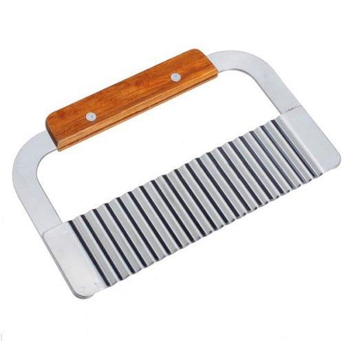 Kabalo Stainless Steel PotatoVegetable Wavy Crinkle Cutter Chip Shredder