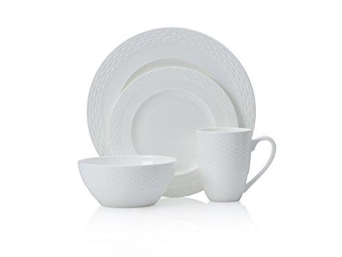 Mikasa 5224191 16 Piece Ortley Bone China Dinnerware Set White