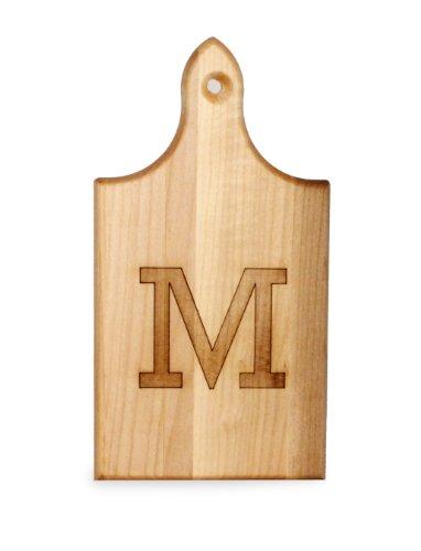 JK Adams Q-Tee Cut-Up Sugar Maple Wood Cutting Board 7-12-inches by 4-inches Alphabet Series M