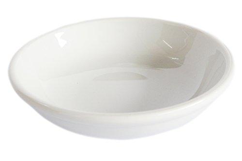 Set of 6 Amatahouse Elegant Round Soy Sauce Dish Sushi Wasabi Plates Soy Sauce Dipping Bowls Royal Porcelain Classic White 4 4007