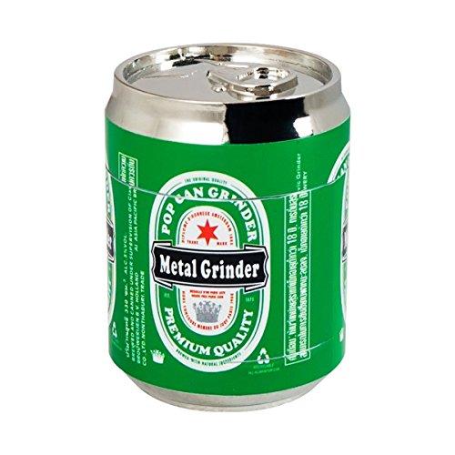 Formax420 Cola Metal Jar Tobacco Grinder Spice Mill 3 Pieces 15 inch green