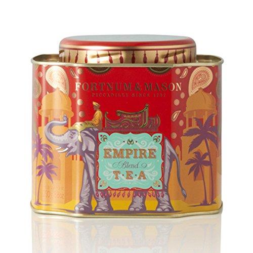 Fortnum Mason British Tea Empire Blend Tea 250g 88oz Loose English Tea in a Decorative Gift Tin Caddy 1 Pack - Seller Model Id Lempirelqt12 - USA Stock