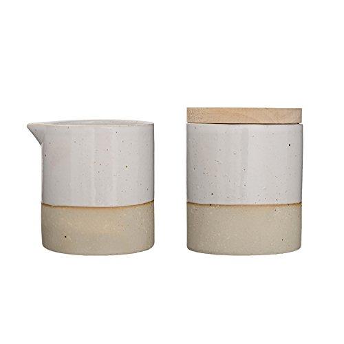 Bloomingville Ceramic Barbara Sugar and Creamer Set White