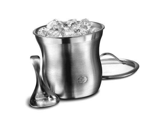 Caphalon Barware Stainless Steel Ice Bucket Set