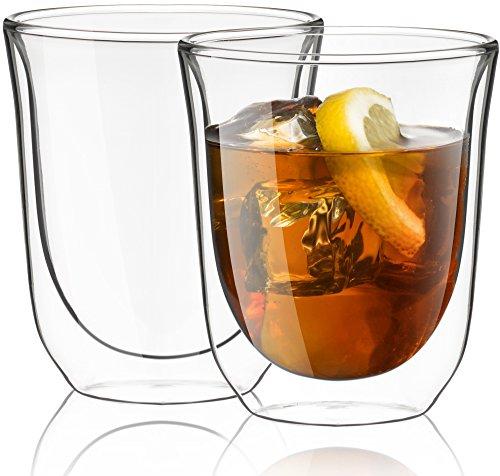 JoyJolt Levitea Double Walled Glasses Thermo Tumber 84-Ounce  Set of 2 Barware Drinkware Glassware