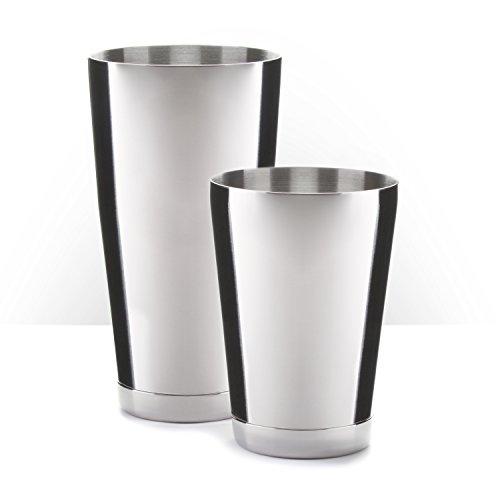 Piña Barware Stainless Steel Commercial Bar Boston Shaker Tin Set - 28oz 18oz