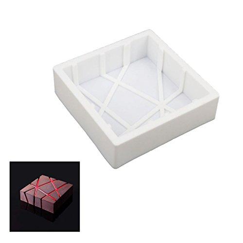 8 inch cake pan square cake pan 3d cake pan silicone cake pan white beicemania square Stripe L