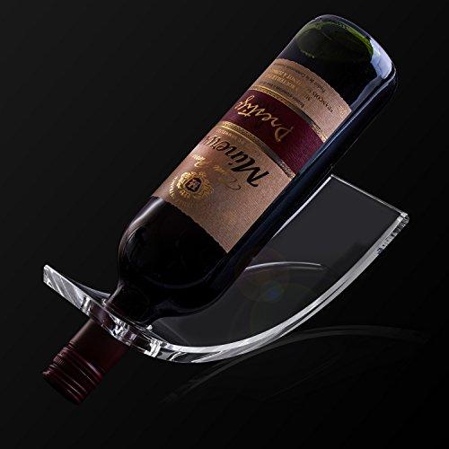 Clear Acrylic Arc Design Wine Rack Display Stand Single Bottle Holder