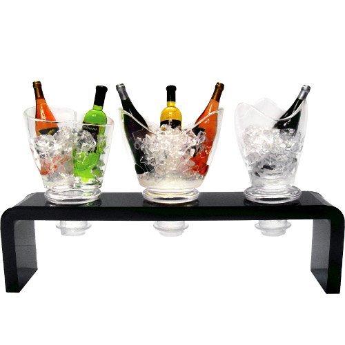 Prodyne Acrylic and Silicone Wine Bucket Bottle Stopper Set of 3