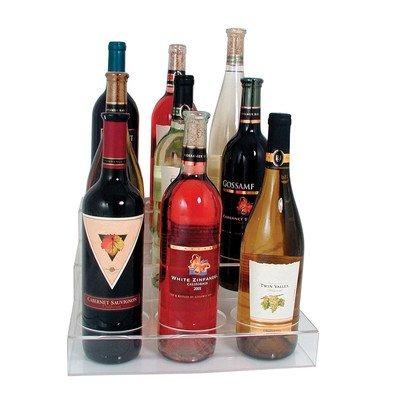 Update International ABO-3X3 Acrylic Wine 9 Bottle Holder 11 78 L x 14 18 W x 6 H Hole Diameter 3 12