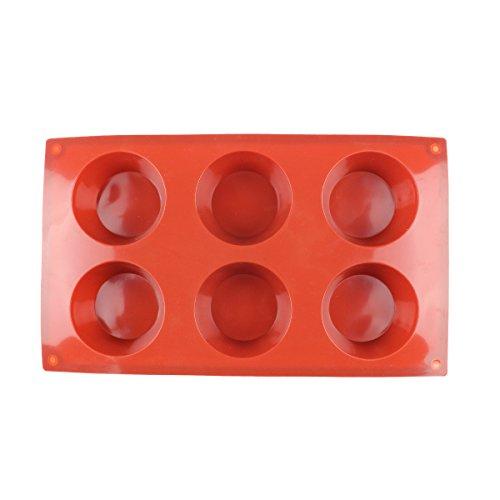 Baker Boutique 6-Cavity Silicone Baking Mold Chocolate Cupcake Non Stick Reusable Flexible Durable Heat Resistant